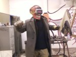 Pete in welding-fervor