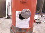Air intake hole with cover