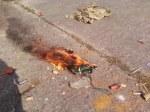 Police car arson attack