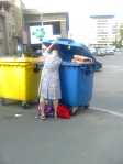 Out of necessity dumpster-diving is a lot more socially acceptable here