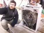 3. Look a bit shocked and surprised because you never saw the inside of a washing machine before.