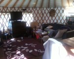 Typical English living room... in a yurt!