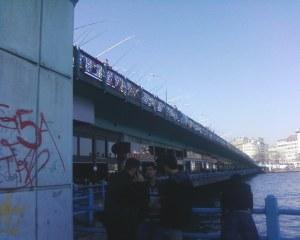 Fishing rods over the Galatta Bridge