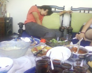 Well fed and asleep!