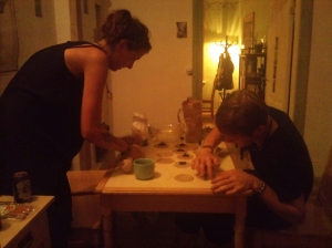 Alex and Justine making pierogi