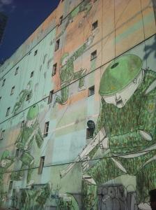 Huge mural on empty building