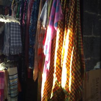 Kurdish colours in the market