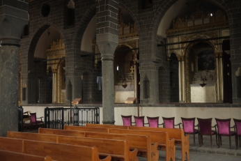 Inside the old Armenian church