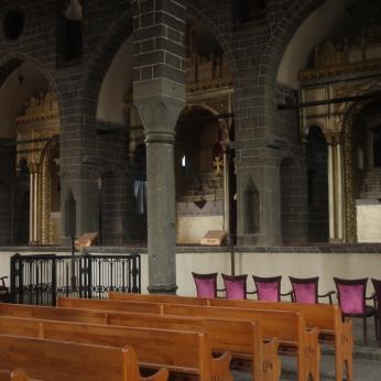Inside the old Armenian church