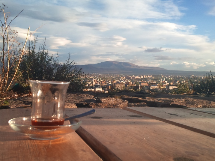 View of Kars from the castle cafe