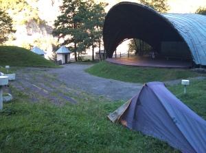 Camping place near Lentekhi.