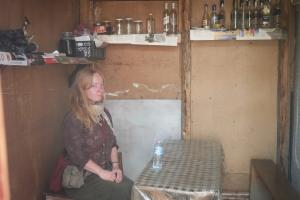 The only cafe in Lentekhi. Photo by Emée - http://ohmyroad.eu
