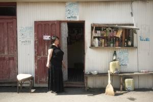 Shopkeeper in Lentekhi. Photo by Emée - http://ohmyroad.eu