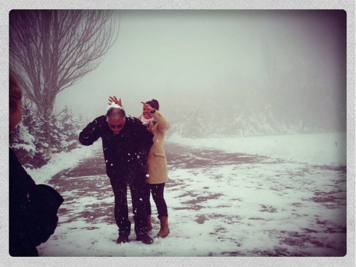 Snow fight - photo by Lisa