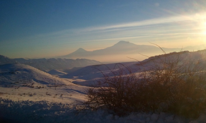 A winter view of Ararat - photo by Lisa