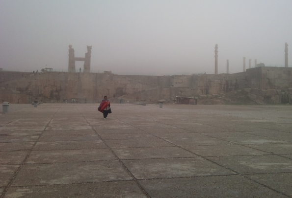 Persepolis in the fog