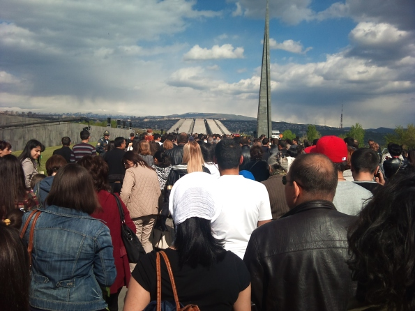 Hundreds of thousands flock to the Genocide Memorial to pay their respects