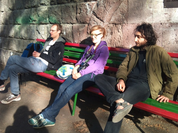 Simon, Dagna and Hrach during one of our adventures.