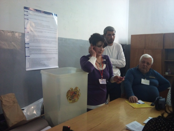 A tense moment in the election process