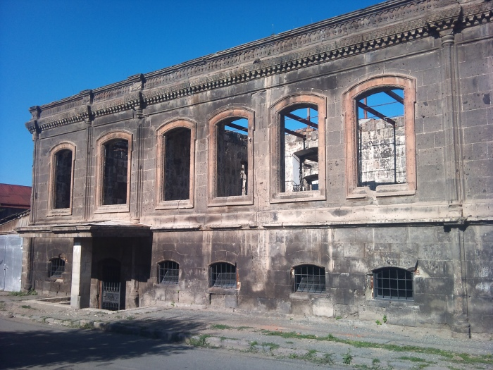 Destroyed building in Gyumri