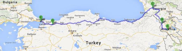 Yerevan to Istanbul