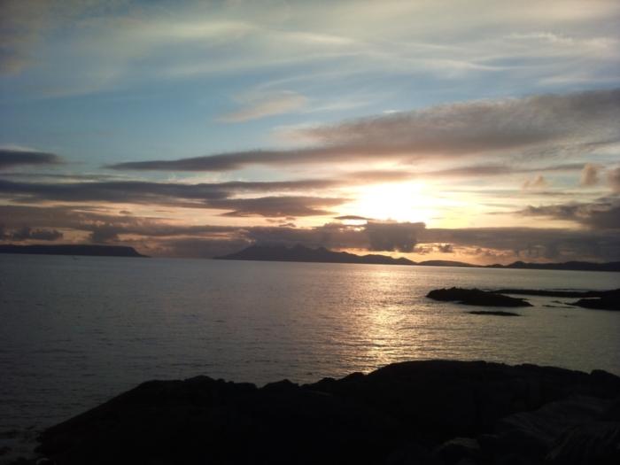 Scotland, sunset, Highlands, Loch Hourne