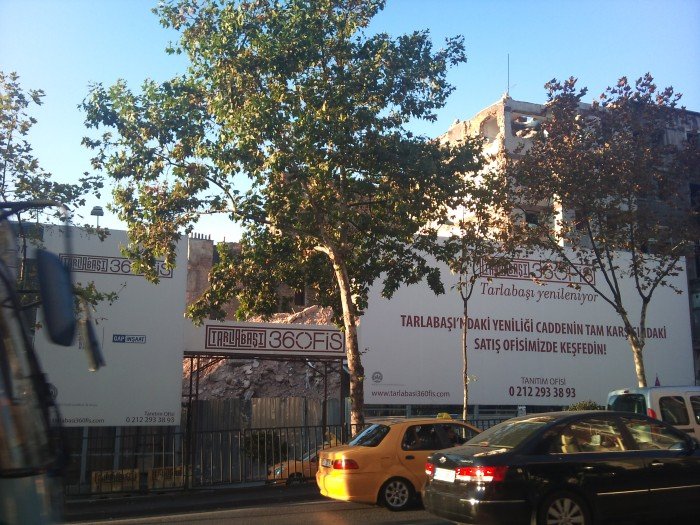 """Tarlabaşı is being renewed"""