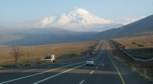travel, Ararat, road, te rising road, the open road, Turkey, hitchhiking