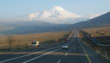 travel, Ararat, road, te rising road, the open road, Turkey, hitchhiking